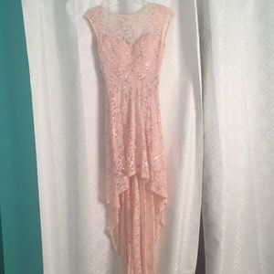 Dresses & Skirts - Pale Pink High-Low Formal Dress